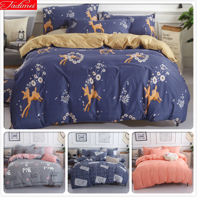 Solar Alert Animal Flower Floral Child Kid Bedding Set 3/4 Pcs Bedclothes Full King Queen Single Size Duvet Cover 1.5m 1.8m 2m 2.2m Bedlinen Grade Products According To Quality