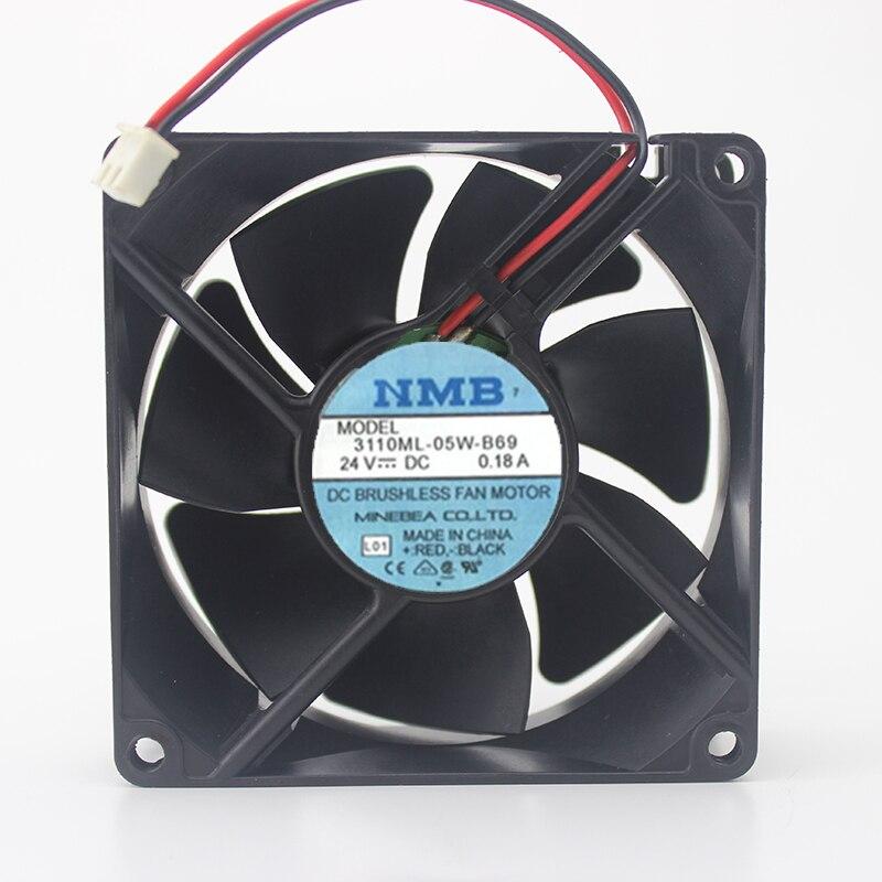 Мяч 24V0. 18A 8025 инвертор шасси промышленного компьютера Вентилятор охлаждения 3110ML-05W-B69