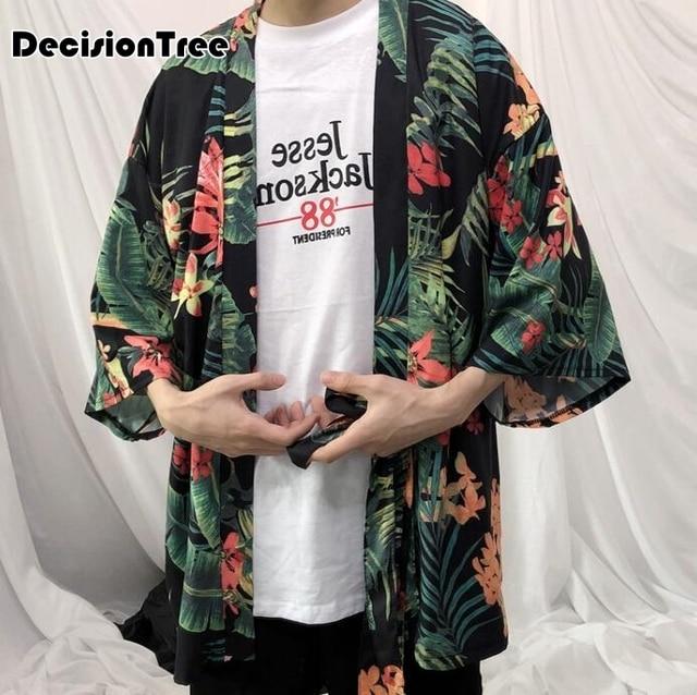 9dca1f64324d0 2019 nuevo kimono diseñador genial ropa japonesa botín hombre streetwear  casual chaquetas outwear harajuku chaqueta outwear