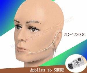 Image 1 - Beige Omni Directiviteit oorhaak Headset Microfoon voor Shure Draadloze mini XLR 4Pin