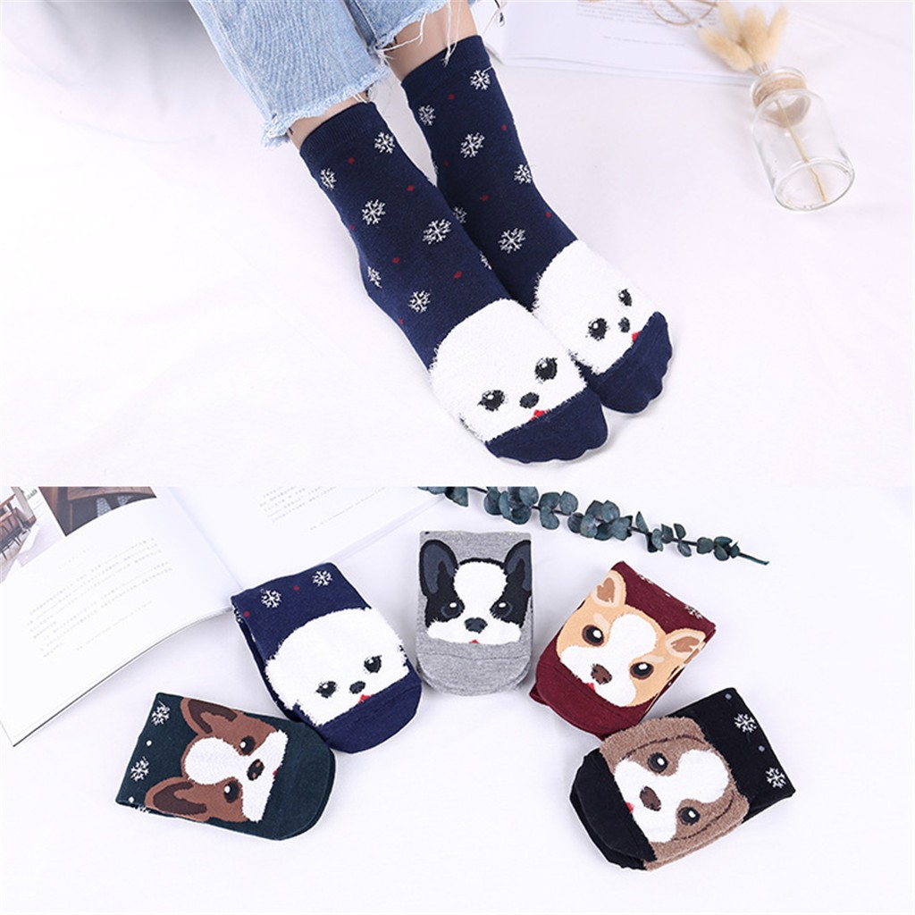 Dikker Sneeuw Kawaii Cartoon Vrouwen Katoenen Sokken Animal Art Karakter Leuke Gift Enkelsok Korte 3d Gedrukt Enkelbandje Sokken Koop