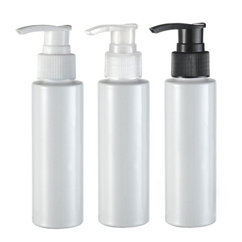Free shipping(48pcs/lot)100ml empty  screw emulsion pump bottle 100 cc shampoo shower packing bottle