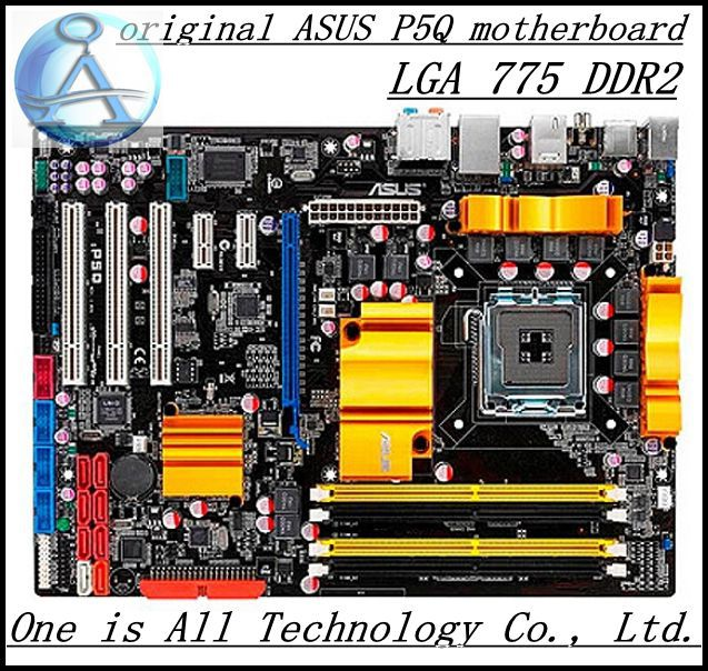 Free shipping 100% original motherboard for  P5Q  motherboard LGA 775 DDR2  Desktop Boards