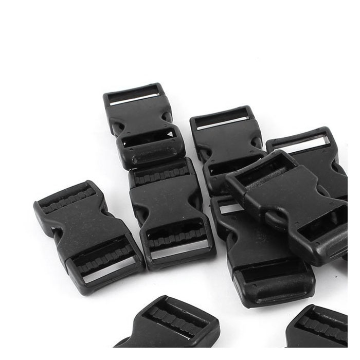 WCS Hard Plastic Buckle Backpack Closure Fast 10 Pieces Black
