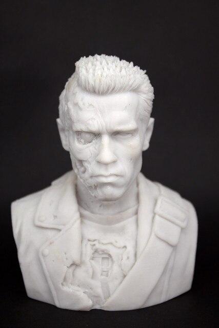 [ESTARTEK] Terminator T800 Arnold Schwarzenegger Battle Damaged Bust Model Imitation Copper Statue Decoration | american girl doll