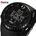 Top Brand OTS Digital Watches men sports Waterproof Black large dial military Luminous wristwatches Male Clock Relogio Masculino