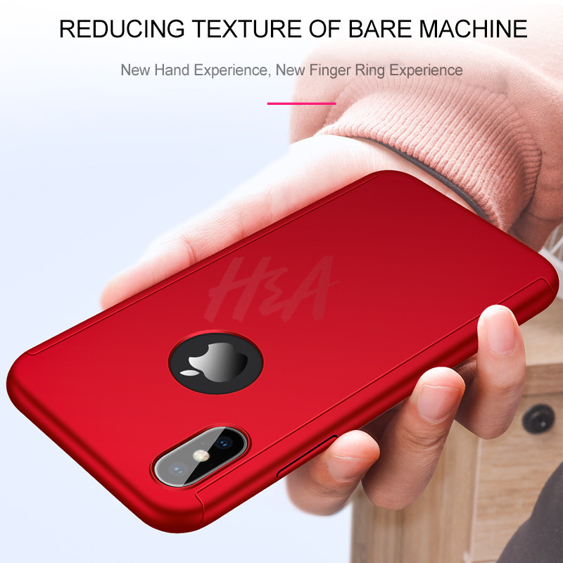 Image 4 - H&A Luxury 360 Full Cover Case For iPhone X XS MAX XR Protective Case For iPhone XR XS MAX X Plastics Phone Case Tempered Glass-in Fitted Cases from Cellphones & Telecommunications