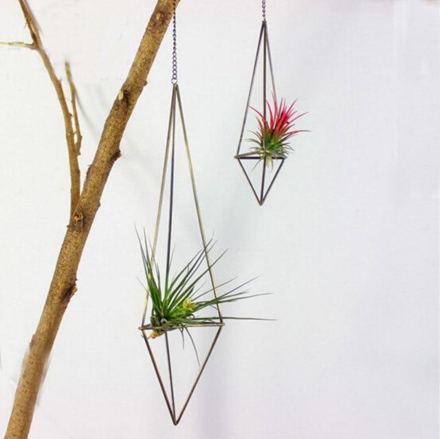 Aliexpress Buy Handmade Iron Crafts Metal Shelf Himmeli Flower