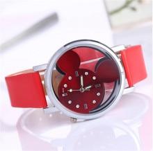 Rhinestone Watch Women 2016 Fashion Brand Luxury Mickey Mouse Casual Quartz Wristwatches Ladies Dress Clock Girl Cartoon Watch
