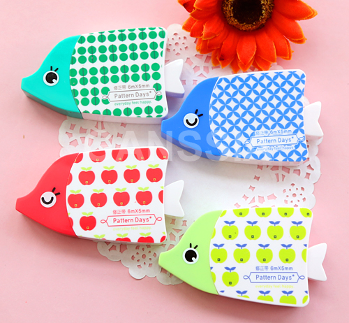 1PC Fish design correction tapes Kawaii stationery daily tap