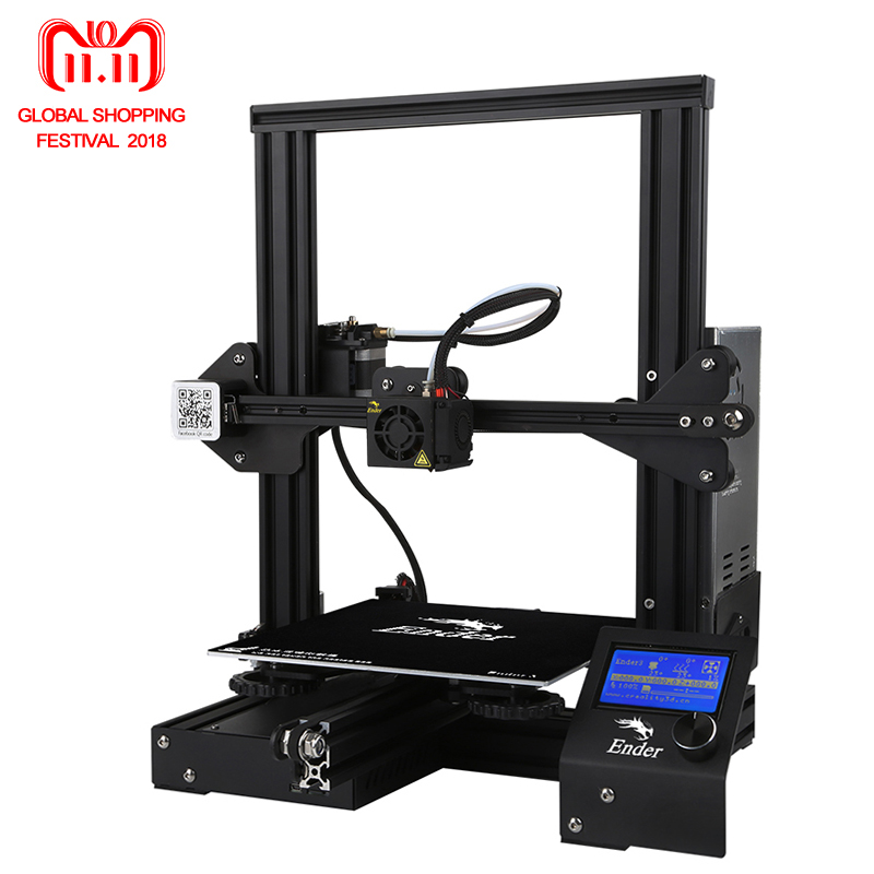 все цены на Ender-3 3D printer DIY Kit Large Print Size Prusa i3 printer 3D Ender 3/Ender-3X Continuation Print power 110 hotbed 220*220*250 онлайн