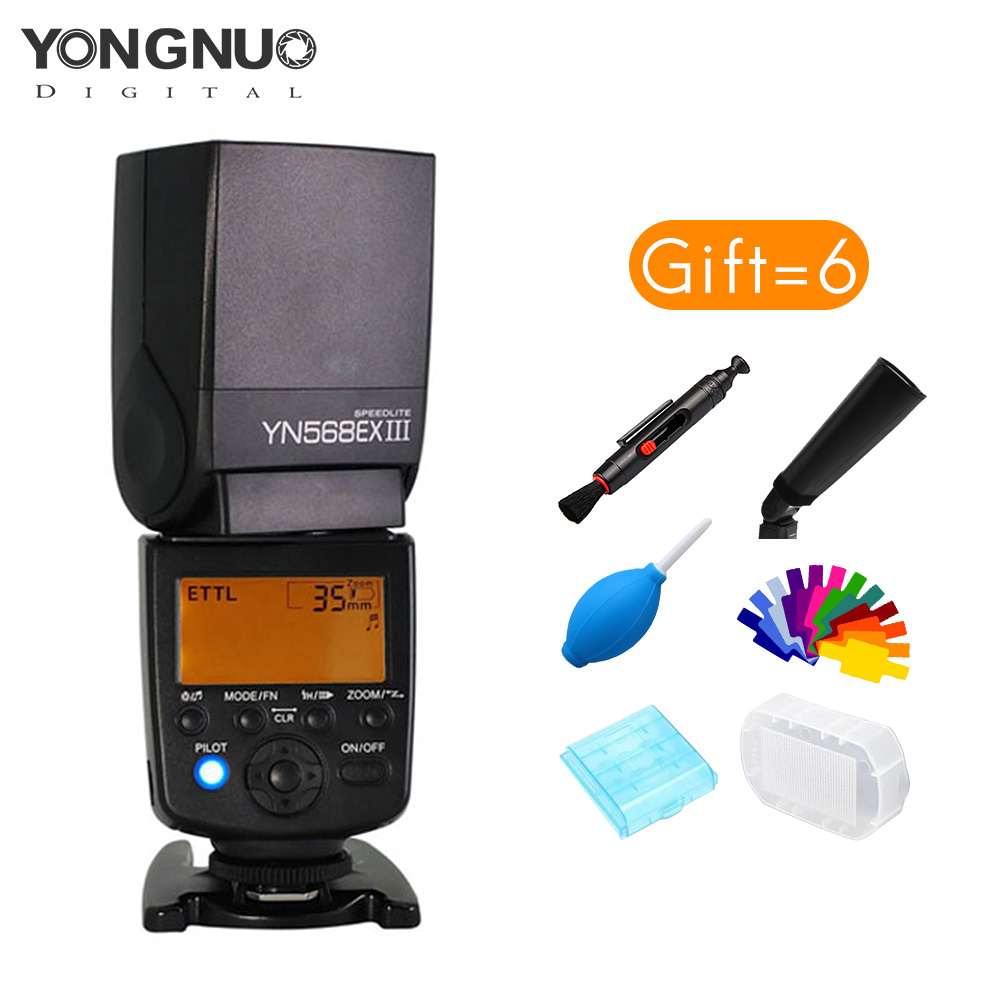 Yongnuo YN-568EX III Wireless HSS Flash Speedlite Master & Slave E-TTL for Canon 1Dx 5DIII 5DIV 5D 7D 60D 80D 77D 700D yongnuo yn568ex iii wireless ttl sync 1 8000s hss flash speedlite for canon 1dx 1ds 5d mark iii iv 70d 80d 7d 6d 700d 750d