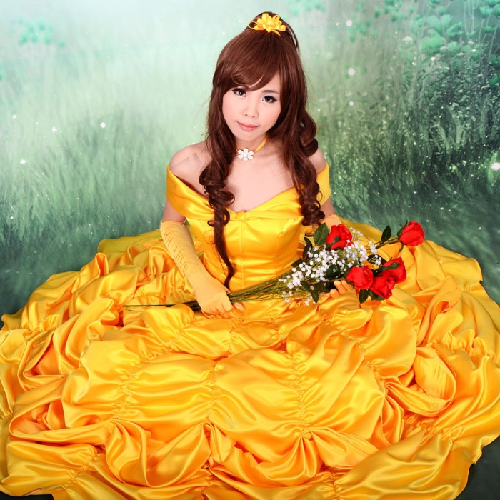 free shipping belle costume adult princess belle beauty and the