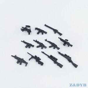Image 3 - 77PCS Waffe Pack Gun Military PUBG Zubehör Mini Soldaten Figur Playmobil Baustein Ziegel Pädagogisches Kinder Kid Spielzeug
