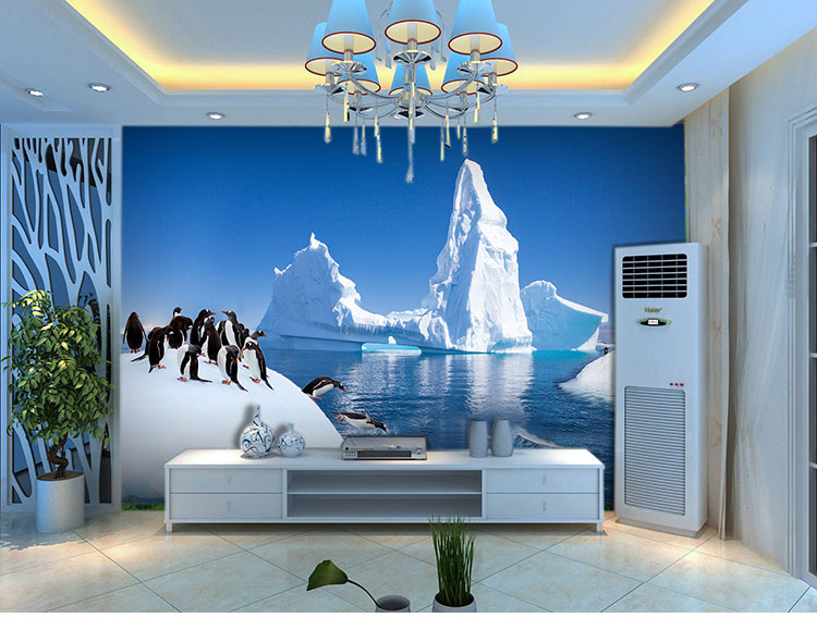 Aliexpress.com : Buy Large 3D Background Wallpaper Cute Arctic Penguin Mural  Wallpaper Bedroom TV Backdrop Wall Paper Papel De Parede From Reliable  Papel De ...