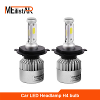 Meilistar S2 H4 COB LED Headlight 72W 8000LM Hi Lo Beam Car LED Headlights Bulb Head