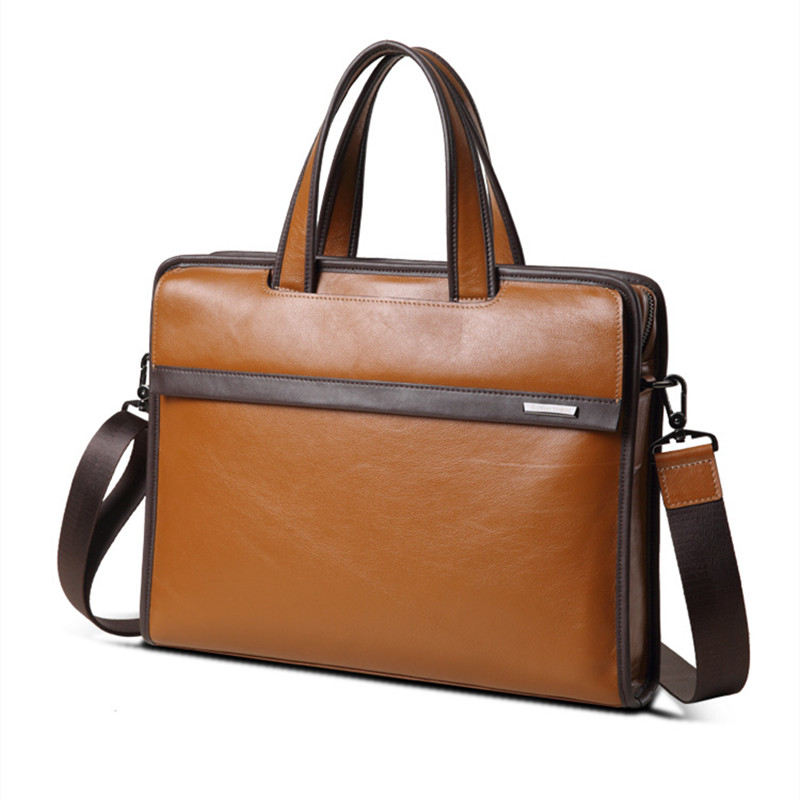 2018 New Natural Cowskin Mens Briefcase Fashion Large Capacity Business bag
