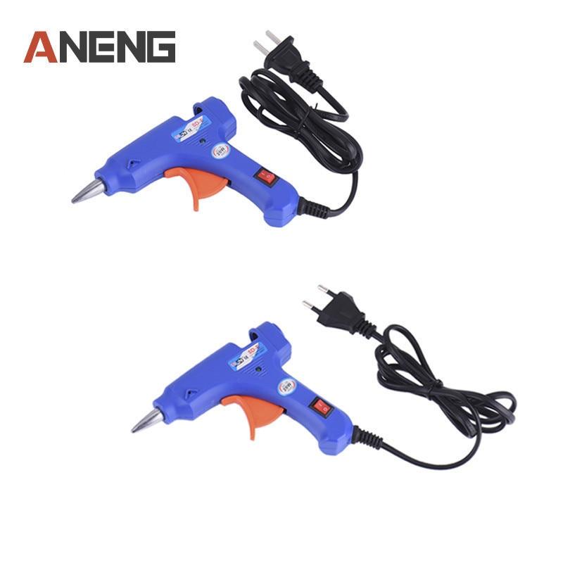 1Pc 20W EU/US Plug Hot Melt Glue Gun 7mm Glue Stick Industrial Mini Guns Thermo Electric Gluegun Heat Temperature Tool