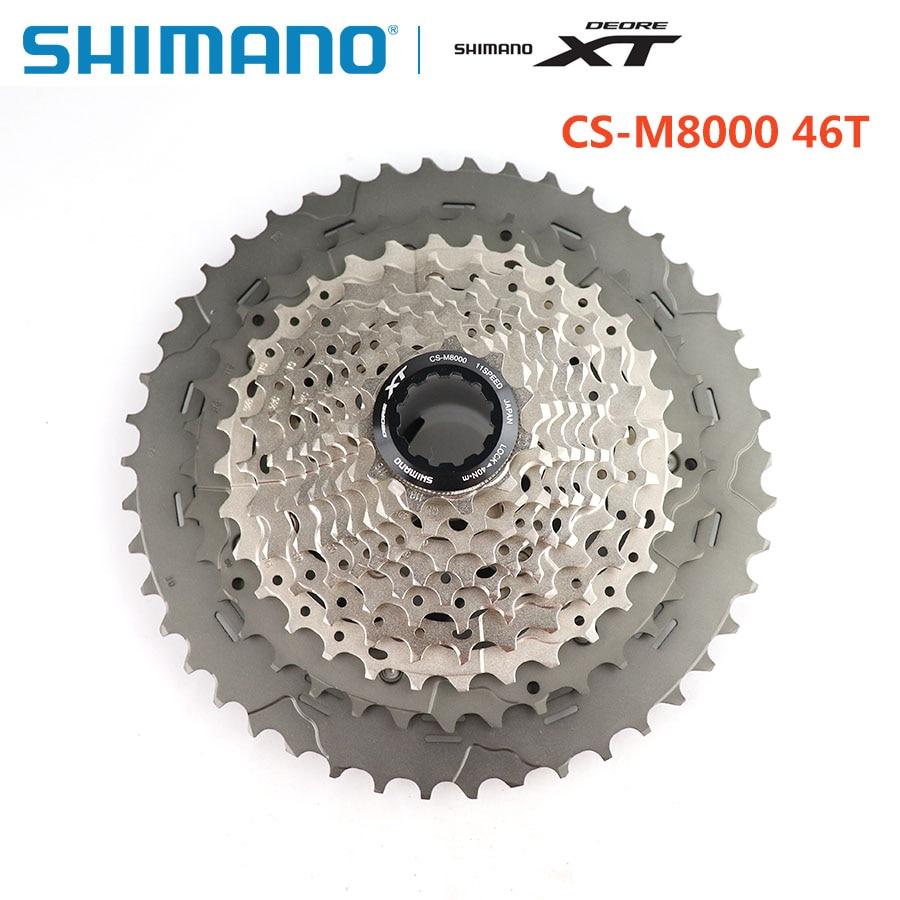 SHIMANO DEORE XT CS-M8000 pignon Cassette 11 S vitesse 11-40 T VTT type de carte volant Shimano véritable vélo accessoires