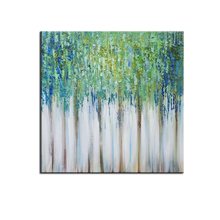 Dropshipping Abstract Oil Painting Green Spring Forest Modern Decor Canvas Art Custom Wall