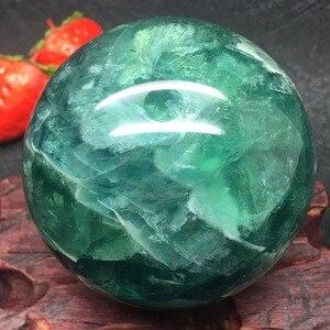 Image 3 - טבעי פלואוריט קוורץ קריסטל כדור כדור ריפוי