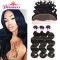 Brazilian Virgin Hair With Closure Brazilian Body Wave 3 Bundles With Frontal Ear To Ear lace Frontal Closure With Bundles