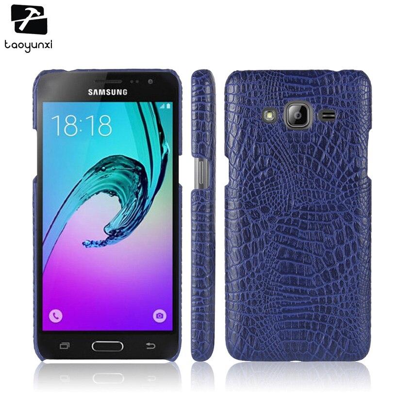 Galleria fotografica TAOYUNXI Crocodile Pattern Case For Samsung Galaxy J3 2016 J320FN J320F J320F/DD J320A J320V J320P J300 J310 J320M Cover Bag