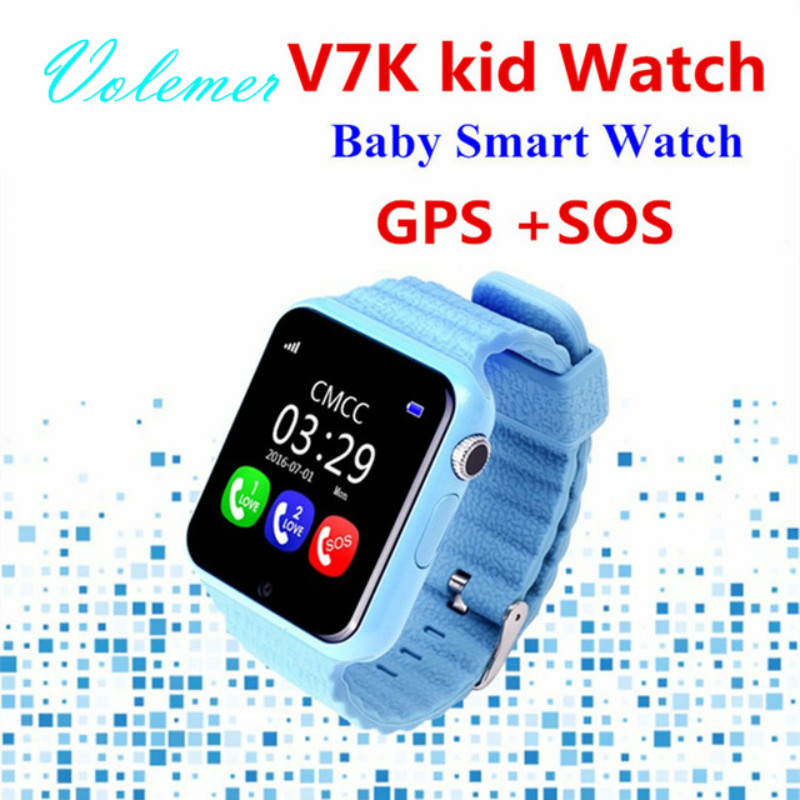 New V7K GPS Baby Smart Watch Kids Waterproof watch with Camera SOS Call Location DevicerTracker Anti-Lost Monitor PK Q90/Q80/Q50 wireless service call bell system popular in restaurant ce passed 433 92mhz full equipment watch pager 1 watch 7 call button