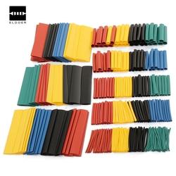 328 pces 8 tamanhos multi cor polyolefin 2:1 halogênio-livre calor psiquiatra tubo tubo variedade sleeving envoltório tubos