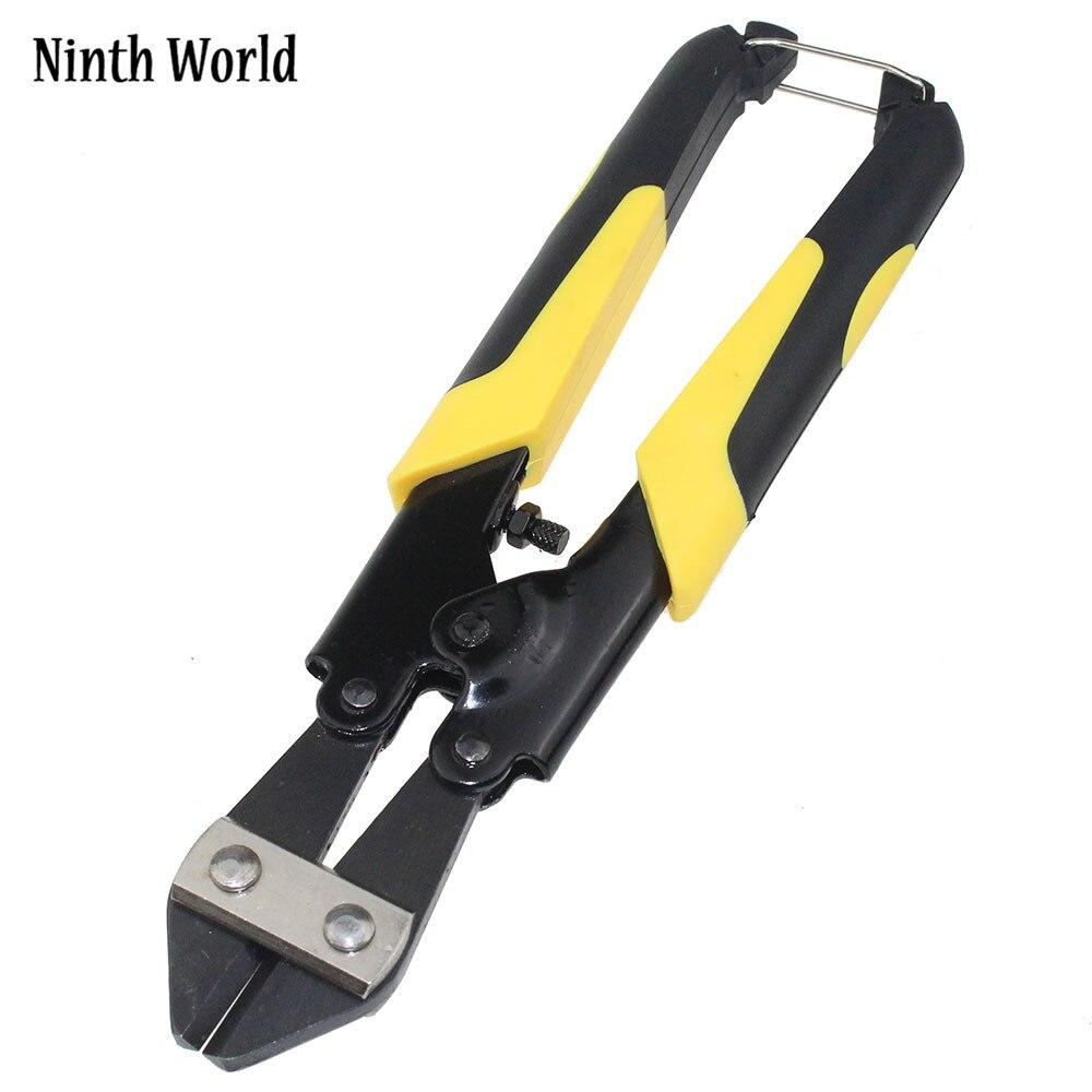 Nono Mundo 8 Polegada Dois-cor Handle Mini Cortador de Parafuso de Aço Alicate De Corte De fio 65 # Manganês Aço Friso Alicate Cortador ferramenta