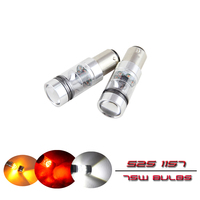 2x 1157 BA15D BAZ15D BAY15D 75W High Power Led Light Bulbs With Projector White Red Yellow