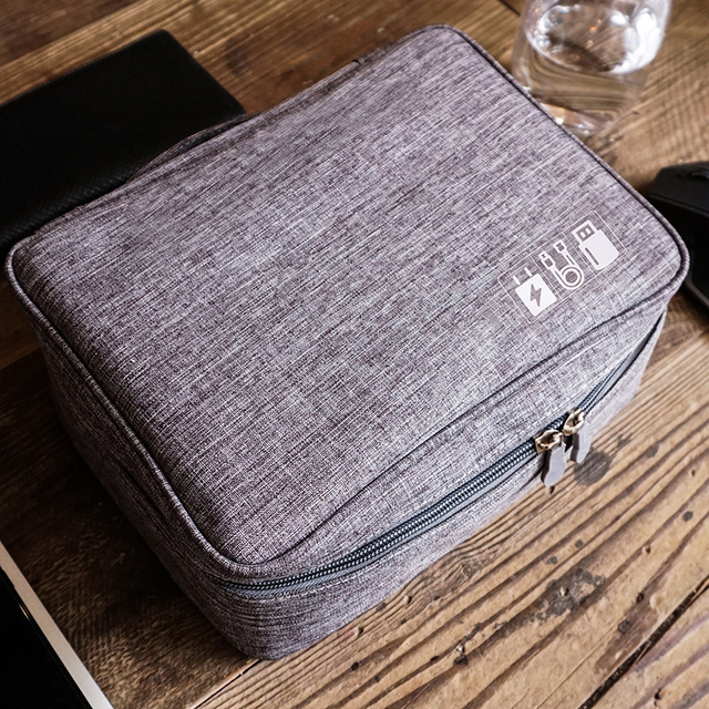 DINIWELL New Electronic Accessories Travel Bag Nylon Mens Travel Organizer For Date Line SD Card USB Cable Digital Device Bag