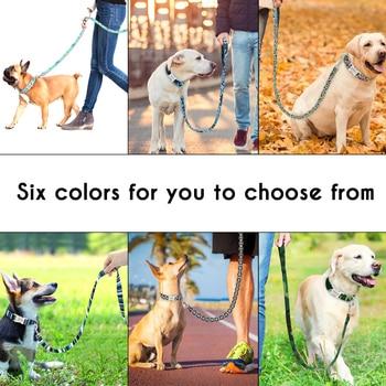 Anti Lost Personalized Nylon Dog Tag Collar Leash Custom