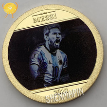 World Cup Messi Commemorative Coin Champions League Golden Boots Gold Coins Collectibles Argentina Football Team Honor Medal