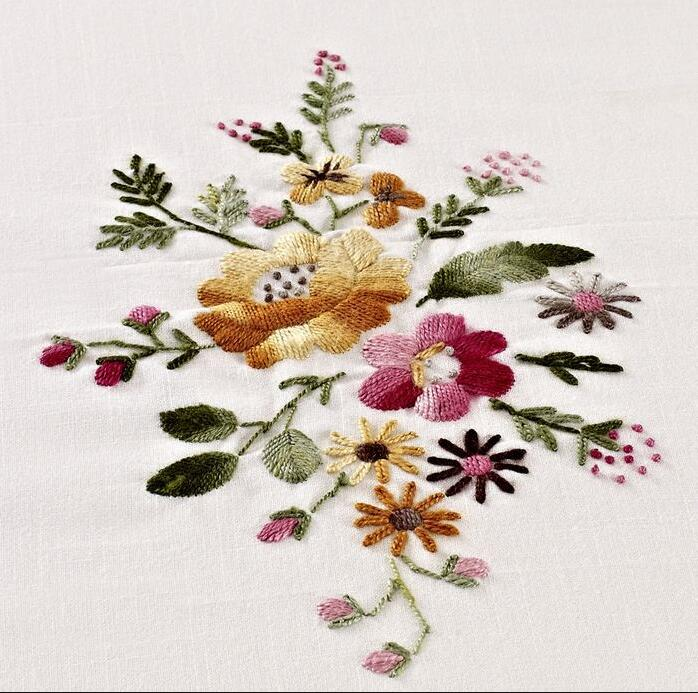 Luxury Chinese Traditional Hand Embroidered 3pcs 230x260cm Bed Sheet