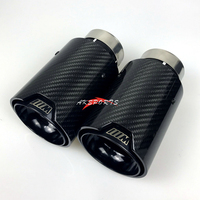 1PC Universal Racing Muffler M LOGO Carbon Fiber Exhaust tips M Performance Exhaust Pipe For bmw e90
