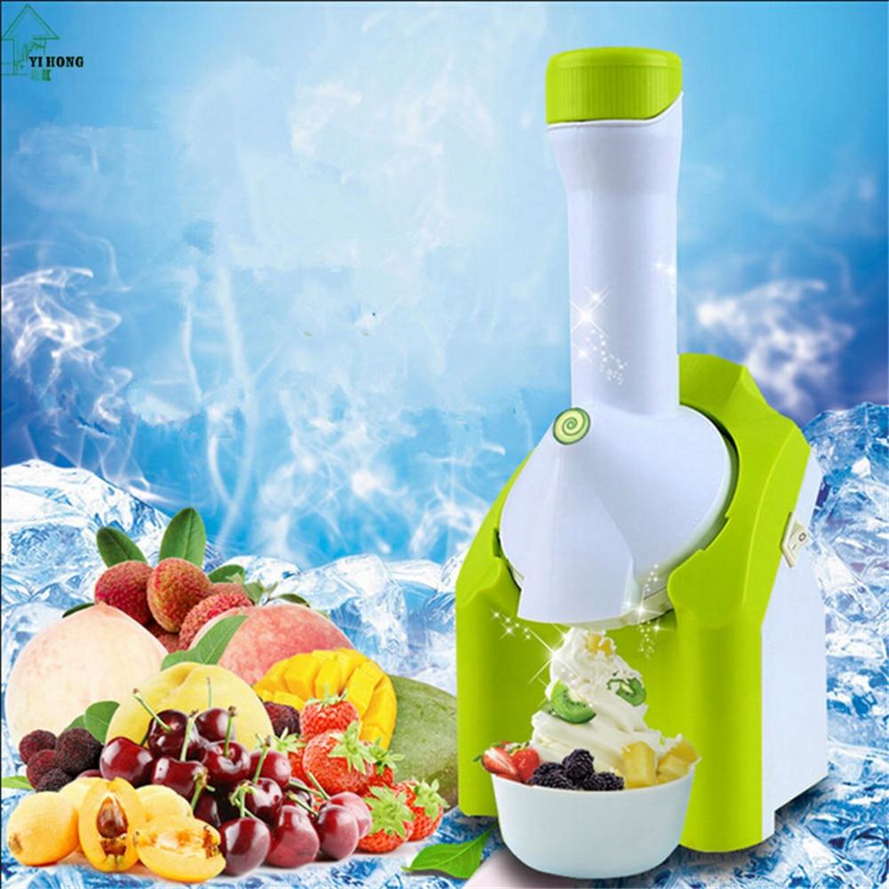 YIHONG 220V Machine Icecream NEW High Quality Mini DIY Fruit Automatic Ice Cream Machine Maker Household For Gift Children