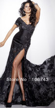 free shipping 2013 best seller new style  seiier Sexy bride wedding Custom size appliques beading evening dress