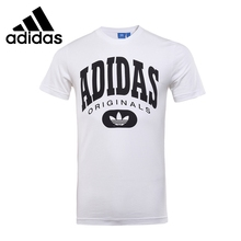 Original New Arrival 2017 Adidas Originals ARCHIVE LOGO TE Men's T-shirts short sleeve Sportswear