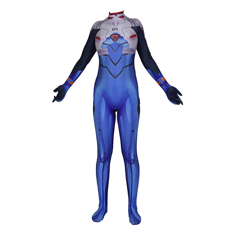 Anime EVA Evangelion Shinji Cosplay Costume Lycra Adult Halloween Bodysuit Jumpsuits Zentai Suis For Adult MEN Women Costumes