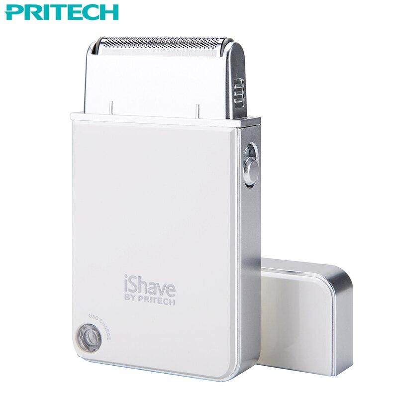 Pritech Électrique Rasoir Pour Hommes Voyage Portable USB Rechargeable Rasage Machine Électrique Rasoir Pour Le Visage Non Lavable # RSM-1880