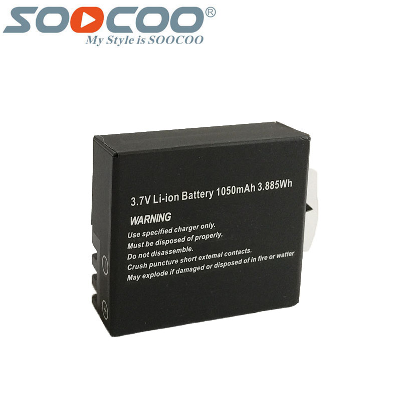 Original SOOCOO C30 Li-ion 1050mAh Rechargeable Battery For Soocoo C30 C30R C10S C20 C10 F68 F68R Sports Action Camera original 1050mah rechargable battery 3 7v li ion battery for sj8000 sj7000s j5000 sj4000 m10 sj5000x sj5000 sport action camera