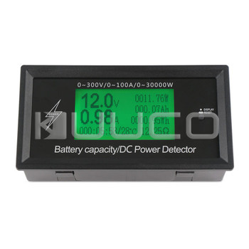 5 PCS/LOT Multimeter/Tester 8in1 Multifunction Panel Meter DC 0.00~300V/100A LCD Display Digital Meter/Monitor with alarm mode