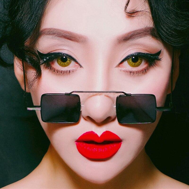 LongKeeper Small Square Glasses Men Women Sunglasses Sunglasses Vintage Red Pink Color Punk Square Eyewear Womens Glasses