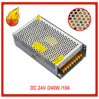 JIAWEN 240W AC 110V / 220V to DC 24V 10A Lighting Transformer Switching Power Supply Silver