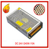 JIAWEN 240W AC 110V 220V To DC 24V 10A Lighting Transformer Switching Power Supply Silver