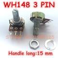 10 teile/los WH148 250 karat OHM B250K Topf 3PIN 15mm Linear Taper Dreh Potentiometer 250KB B250K