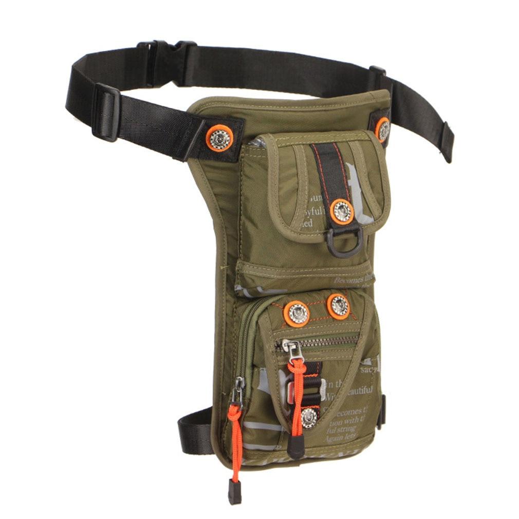 Men's Fashion Waterproof Nylon Drop Leg Bag Fanny Pack Waist Thigh Belt Hip Bum Military Tactical For Travel Motorcycle Riding
