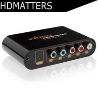5 RCA Ypbpr Component To Composite AV CVBS&S video Audio&video Converter