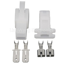2 Pin Jacket Automotive Connector Car Harness Plug With Terminal DJ70224-6.3-11/21 2P 5032 5 3 2 2p 11 0592mhz 11 0592m